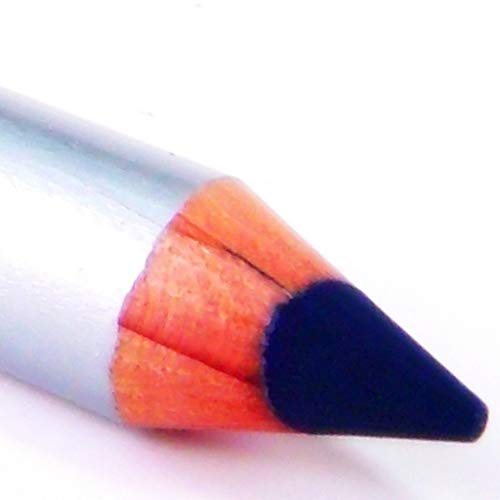 Pure Ziva Navy Sailor Blue Wood Eyeliner Pencil, Sharp Line Glides on Easily HD Professional Eye Liner Smudge Proof Deep Pigment Long Lasting, Natural, No Animal Testing & Cruelty Free