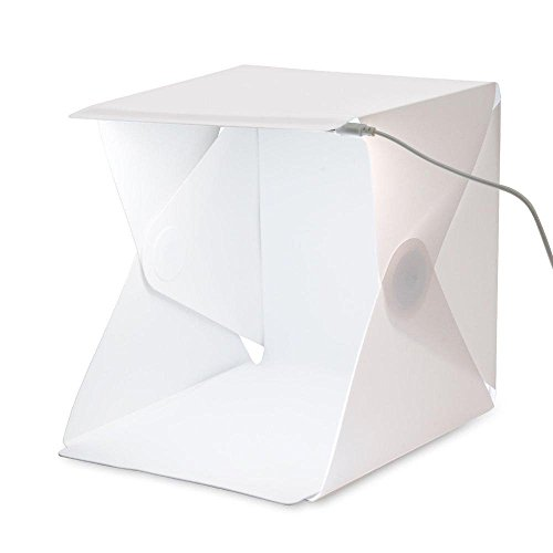 Lifepower 組立式LED撮影ボックス 小物のカメラ撮影に LEDライトボックス 卓上撮影ブース USB電源 白/黒背景布付 組立簡単 持ち運び便利 メルカリ インスタ映えにお勧め
