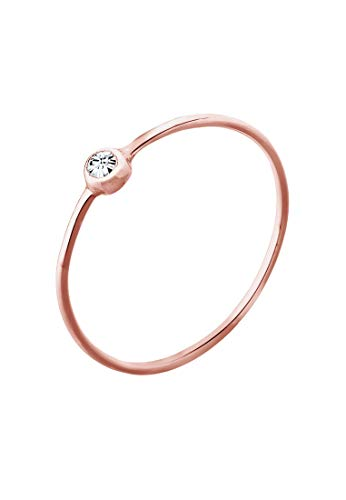 Elli Ring Damen Solitär mit Swarovski Kristall in 925 Sterling Silber