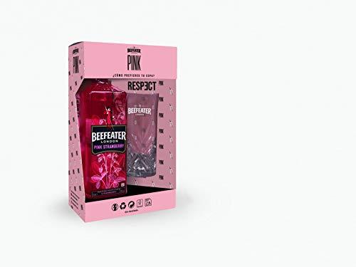 Beefeater Pink Ginebra con Vaso de Regalo - 700 ml