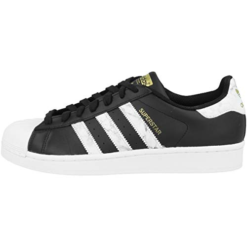 adidas Men's Superstar Derbys, Multicolour (Black Cblack/Ftwwht/Goldmt), 9 UK