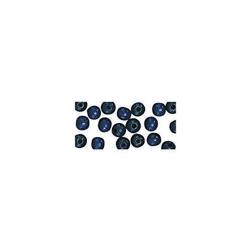 Rayher 1250010 Holz Perlen FSC 100 {df0a5e484236af0949e055618cca131dbd5ae70dc13199a3059e2c1ca8cf27d5}, poliert, 4 mm ø, SB-Btl 150 Stück, dunkelblau