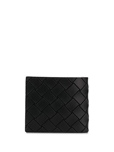 Bottega Veneta Luxury Fashion Uomo 605721VBWL18803 Nero Pelle Portafoglio | Stagione Permanente