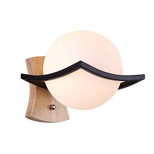 L-YINGZON Lámpara de pared con bola de cristal E27, lámpara de pared, mesita de noche, sala de estar, escalera, lámpara-A Lámpara de interior decorativo