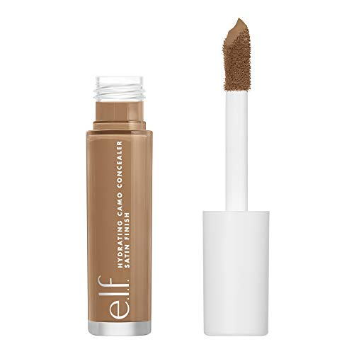 e.l.f, Hydrating Camo Concealer, Lightweight, Full Coverage, Long Lasting, Conceals, Corrects, Covers, Hydrates, Highlights, Tan Neutral, Satin Finish, 25 Shades, All-Day Wear, 0.20 Fl Oz