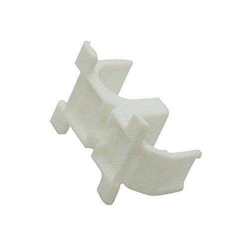 WIROFLEX | Sockelleisten- und Rohrhalter | 5er Set | Halterung | Leiste | Fußbodenleiste | Verkleidung von Rohrleitungen aller Art | Weiß
