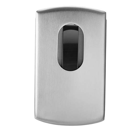 Alvinlite Estuche para Tarjetas de Visita de Acero Inoxidable Portatarjetas de Visita de Metal Portatarjetas de Visita Tipo Empuje Manual para Tarjetas de Visita de Tiendas