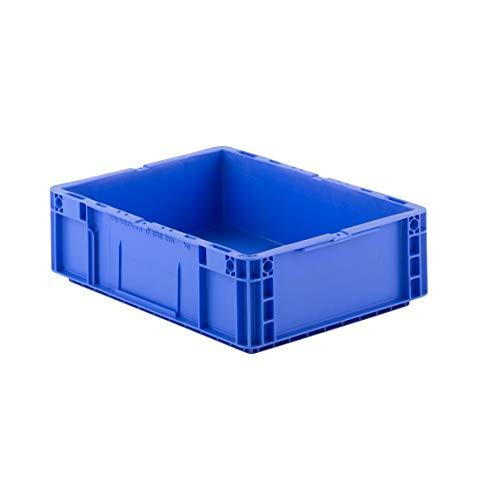 SSI Schäfer MF 4120 Eurokiste Kunststoffbox Transportbox offen ohne Deckel, 400x300 mm, 10 l, 20 Kg Tragkraft, Made in Germany, Blau