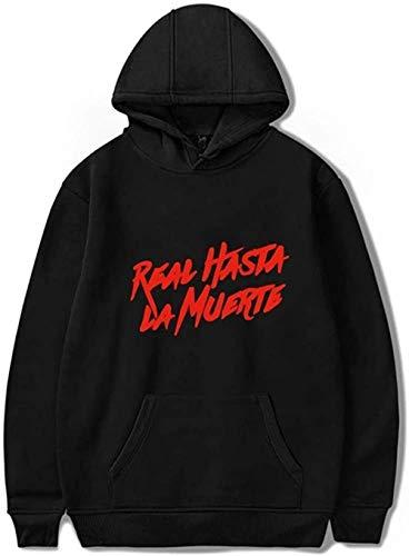 Real Hasta La Muerte Anuel AA Sudaderas Sudaderas Hip Hop Chándal Hombres/Mujeres Sudadera con Capucha Abrigo Manga Larga Harajuku Ropa