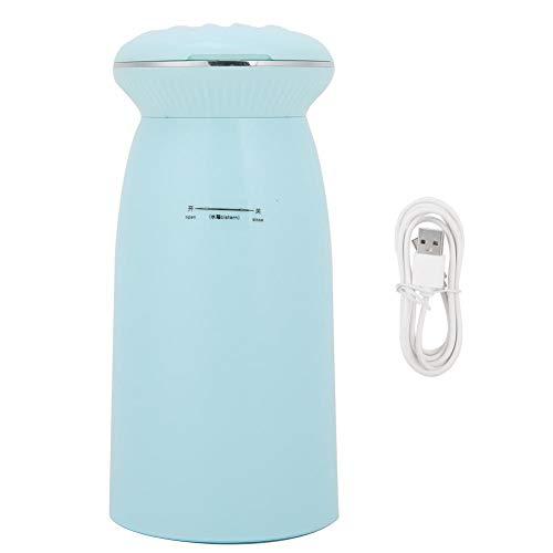 Luftbefeuchter Für Schlafzimmer Home Desktop Luftbefeuchter Mit Nachtlicht Spiegel Mini Luftbefeuchter Flüsterleise Nebel USB Jack Cool Mist Luftbefeuchter Baby Luftbefeuchter(Blau)