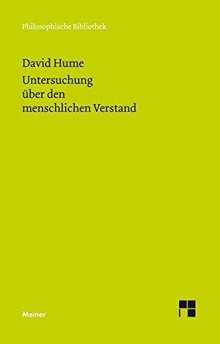 Eine Untersuchung über den menschlichen Verstand (Philosophische Bibliothek)