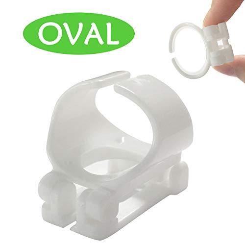 Supertrip Schnorchelhalter Schnorcheln Clip Fuer Ovaler Schnorchel ersatzteil Schnorchelhalterung für Silikon Atemschlauch (Oval,Größe ist Nicht universell) Weiss