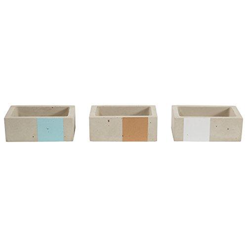 Rivet Remache Urban hormigón Rectángulo Oro Azul Blanco Cajas de joyería