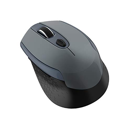 cimetech Mouse Wireless, Silenziosi 2.4G con Ricevitore Nano e Mouse Ergonomico, 1600 DPI con 3 Livelli Regolabili, per Windows 10/8/7/XP/Mac/Macbook PRO/Air/HP/Acer