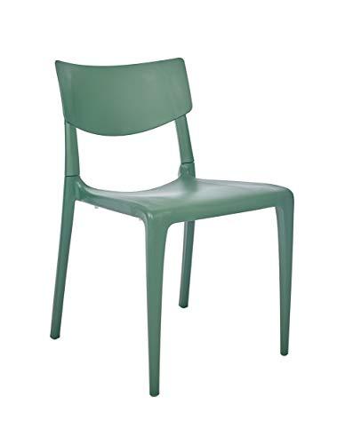 DCB GARDEN Town Chaise de Jardin, Vert, 54,3x47x79,5 cm
