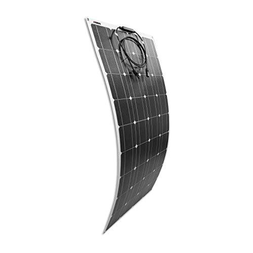 Litionite Carve 100W Panel solar flexible ultra delgado con tecnología ETFE para instalación permanente, ideal para crear un pequeño sistema solar Off Grid o para Batería/Camper/Barco/Caravana/Tienda
