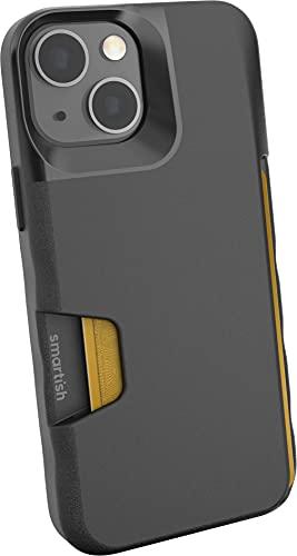 Smartish iPhone 13 Mini Wallet Case - Wallet Slayer Vol. 1 [Slim + Protective] Credit Card Holder - Black Tie Affair