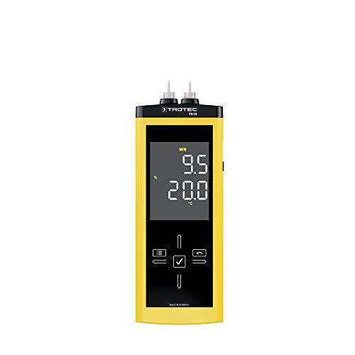TROTEC T510 Feuchtemessgerät Feuchteerfassung Touch-Bedienfeld Holzfeuchte messen
