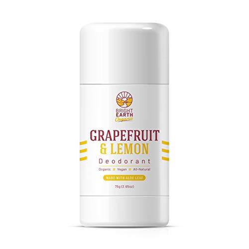 Grapefruit and Lemon All Natural Organic Deodorant - Magnesium and Aloe - Free of: Aluminum, Baking Soda, Alcohol, Vegan, Non Toxic, for Women, Men & Kids - 2.65 oz
