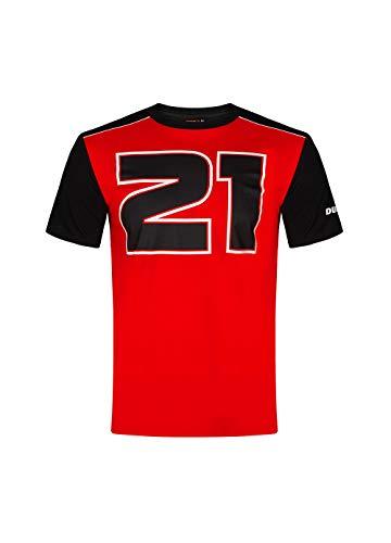 Valentino Rossi Troy Bayliss T-shirt voor heren, rood/zwart, S