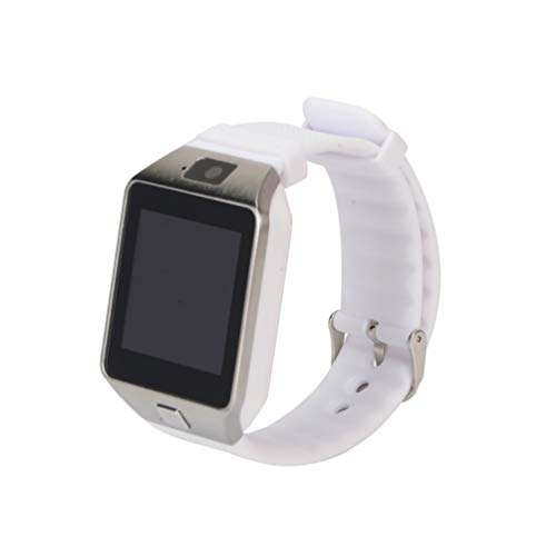 HETUI Smart Watch Smartwatch DZ09 Android Phone Call Relogio 2G gsm SIM TF Card (Blanco)