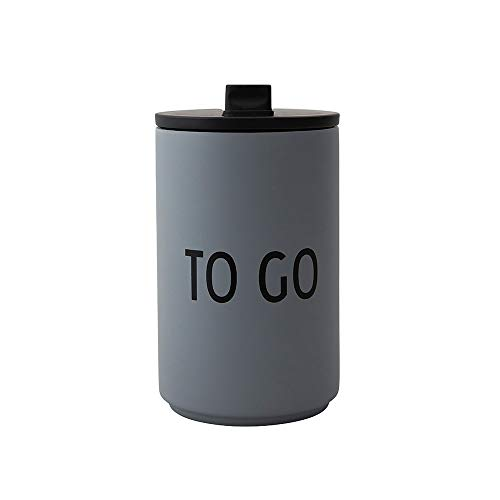 Design Letters Trinkbecher/Isolier Becher to GO (Grau) 350 ml