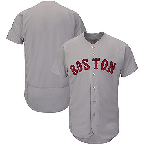 BUFJ Uniformes de béisbol para hombre y mujer, adecuado para los fans de Red Sox ropa deportiva, uniformes de béisbol personalizados, el mejor regalo L D