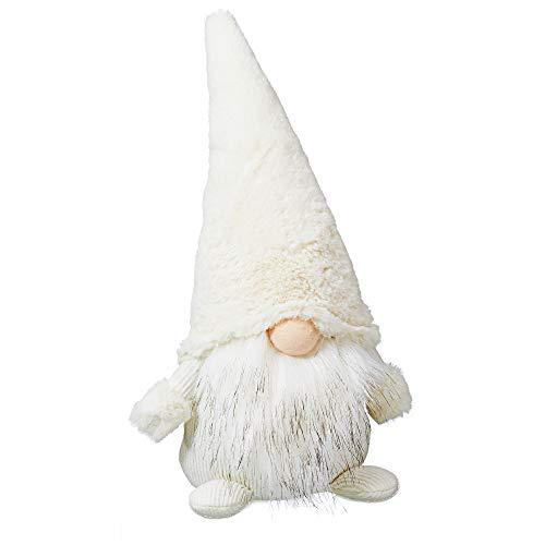 Cepewa Weihnachtswichtel in Weiß, gr, ca. H39cm Wichtel Weihnachtsdeko Dekofigur Weihnachten