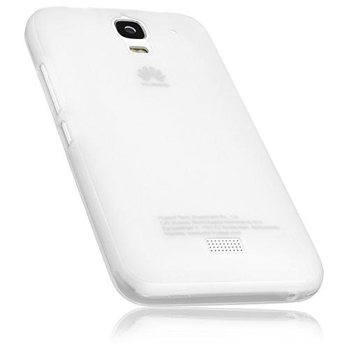 mumbi Hülle kompatibel mit Huawei Y3 Handy Case Handyhülle, transparent Weiss