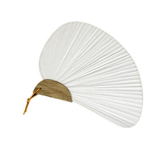HSLFZD Handgefertigter Fächer 1 stücke weiß falt elegant Papier Bambus und papierhandlüfter Hochzeitsparty Favors Exquisit und praktisch, kann für viele Anlässe DEK (Color : C)