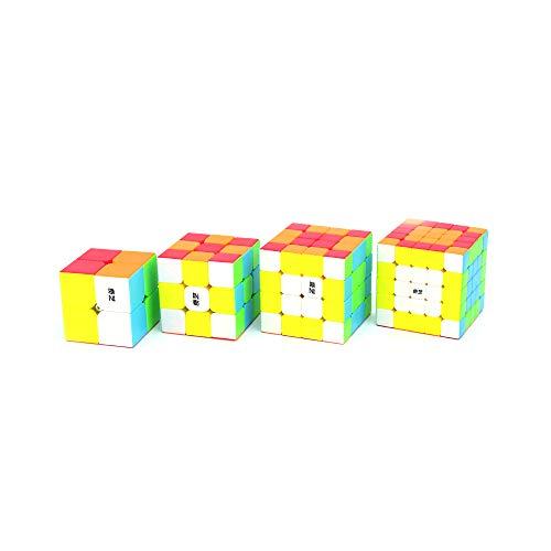 Cubelelo QiYi 2x2 3x3 4x4 & 5x5 Stickerless Combo Set Speedcubing Bundle Cubes Magic Puzzle 2