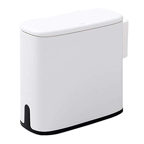 Automatische vuilnisbak Multifunctionele 11L Plastic Smalle Type Automatische vuilnisbak Toilet Afvalbak Vuilnisbak Vuilnismand Vuilnisbak Emmer Borstel Badkamer Reiniging, Grijs Huishoudelijke decoratieve opbergbak