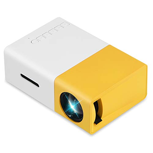 Mini-Portable-LED Projector Gift for Children, iCombob Family Projector for Movie night, Party, Game, Home Theater, Compatible with Phone, USB, PC, DVD, Game Consoles etc.
