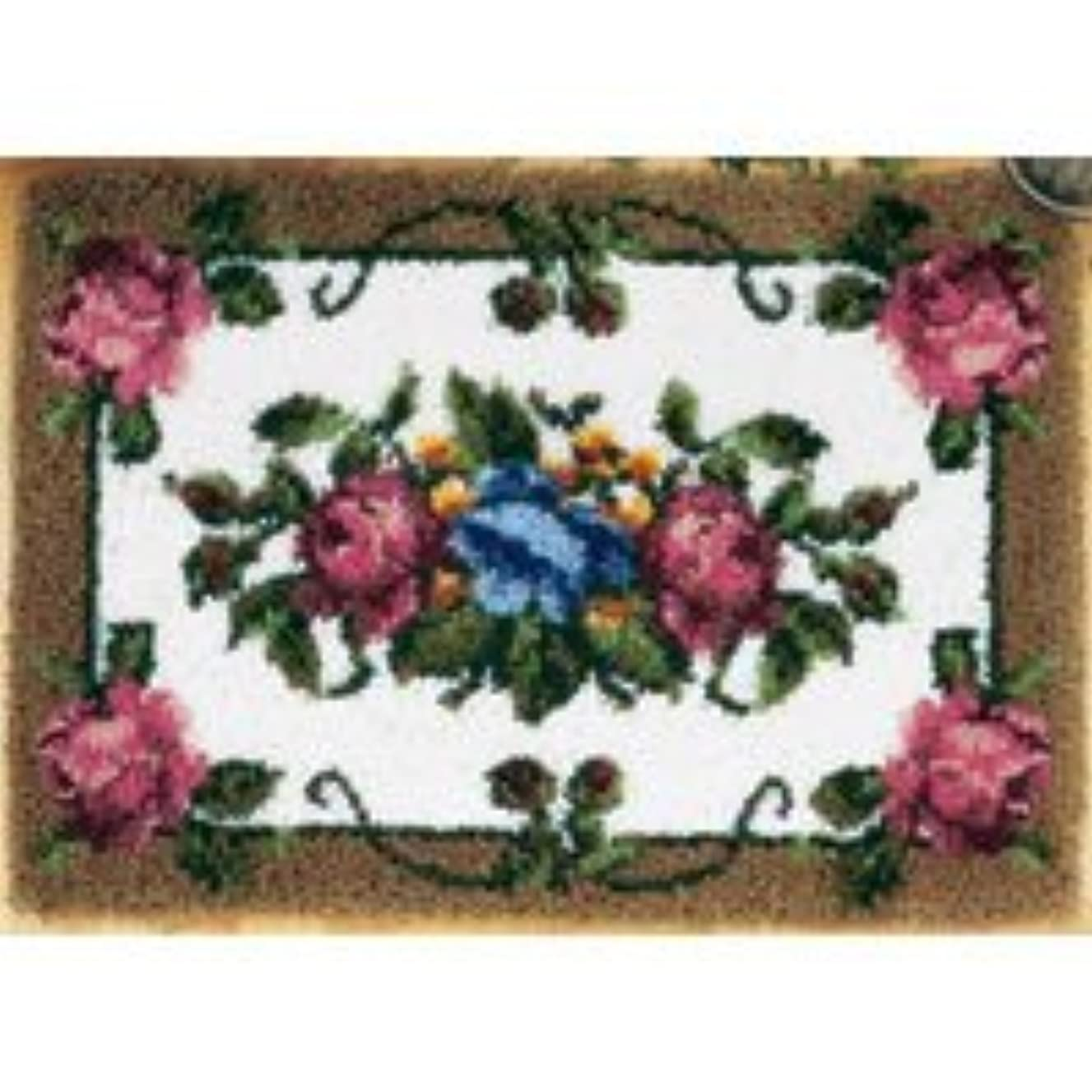 Elegant Roses Latch Hook Rug Kit - Latch Hook Kit