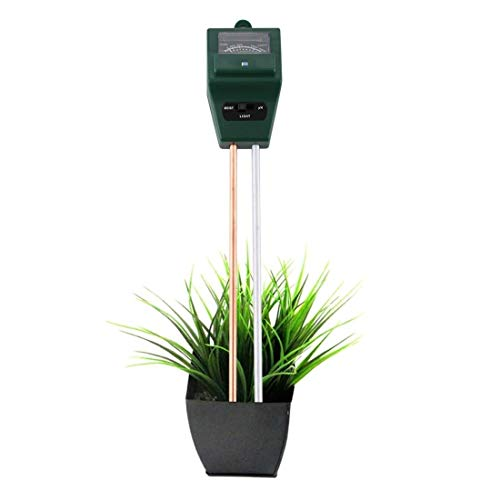 Read About ZHANGQUANQUAN Quan Tester AZSX 3 in 1 Plant Flowers Soil Meter (PH + Moisture + Light)(Gr...