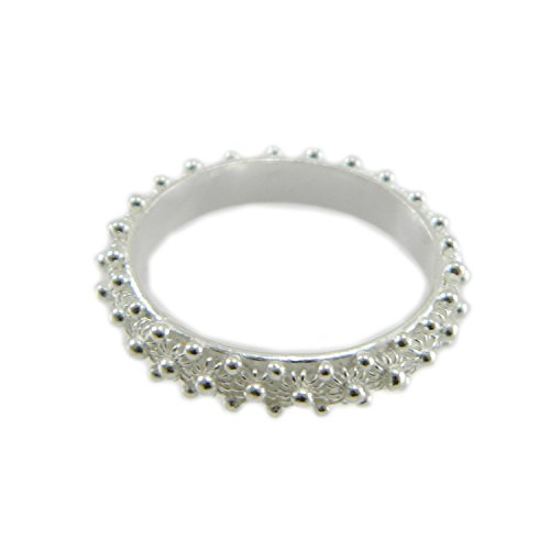 Anello in argento 925 fede filigrana tipo sarda lavorazione nido ape 1 fila (14)