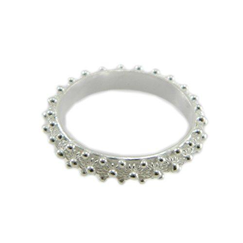 Anello in argento 925 fede filigrana tipo sarda lavorazione nido ape 1 fila (13)