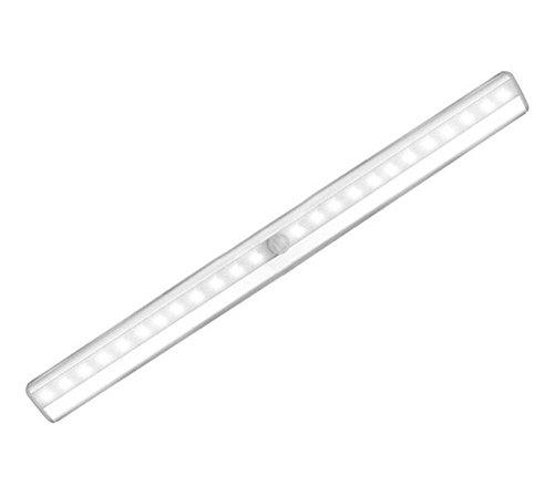 Stoog Luz LED Armario Lámpara Armario Sensor Movimiento USB Recargable, 20 LEDs Lámpara de Noche Automático Banda Magnética Iluminacion Armario Gabinete Mueble Habitación (Blanco Frío)