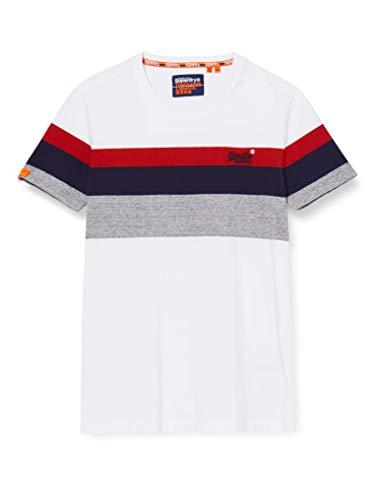 Superdry OL Classic Yd Stripe Tee T-Shirt, Blanc (Optic 01c), XS Homme