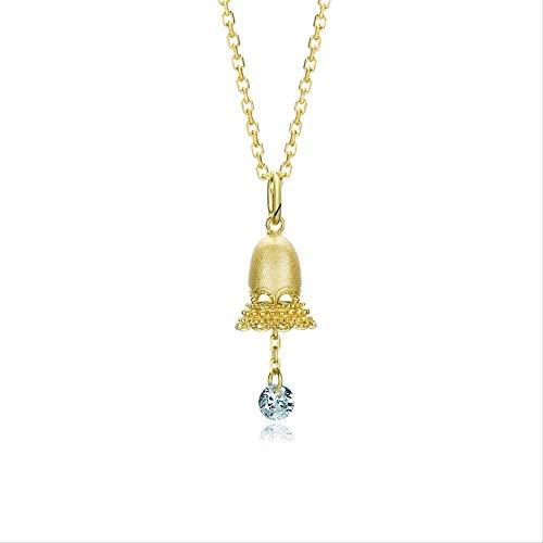 Xianglsp Co.,ltd Halskette Weihnachtswind Glockenspiel Halskette Spitze Hohlglocke Weiß Zirkonium Quaste Halskette Schlüsselbein Kette Weiblich