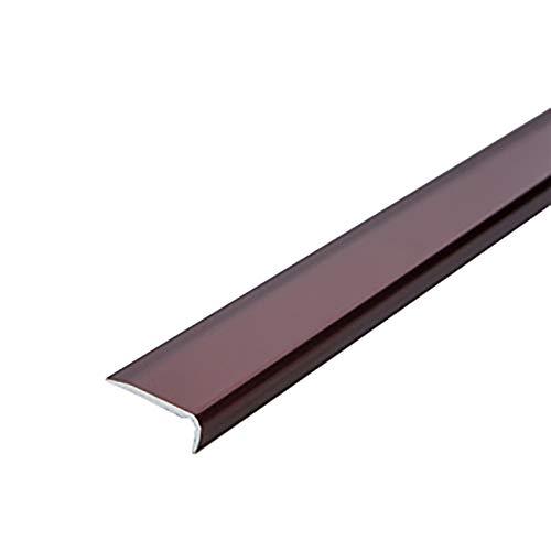 Tira de transición de borde de escalera 2 PCS 1.2m longitud en forma de Les de aluminio en forma de L de 20x7mm ángulo de ángulo Perfil del lado de la escalera Borde de escalera antideslizante