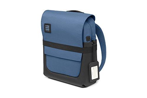 Moleskine ID Collection Zaino da Lavoro Professionale Waterproof Device Backpack per Tablet, Laptop, PC, Notebook e iPad Fino a 15  , Dimensioni 29 x 12 x 40 cm, Colore Blu Boreale