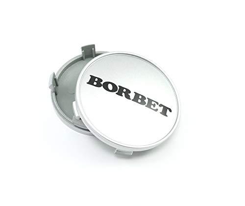 1x Borbet Nabendeckel Felgendeckel Nabenkappe 68,4mm für Borbet XR Y Silber LK 5x120!