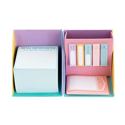 Mr. Wonderful Caja con bloc de notas, notas adhesivas y portalápices, WOA11063ES