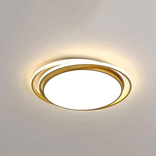 Home Lámpara de techo LED ultrafina, redonda, atenuación, 48 W/64 W, empotrada, moderna, minimalista, para salón, dormitorio