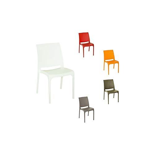 bica Chaise en résine Volga blanc/chocolat