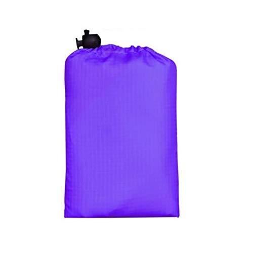 KJBGS Außenmatte Outdoor wasserdichte Picknick Camping Zelt Matte Tragbare Picknick Strand Matte Taschendecke Strand Matte Decke Boden Matte 110 * 70 cm Tragbare Campingmatte (Color : Purple)