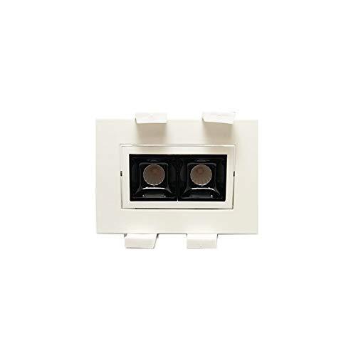 Laser Blade LED-Einbaustrahler, schwenkbar, 4 W, 3000 K, warmes Licht 320 lm, Weiß/Schwarz