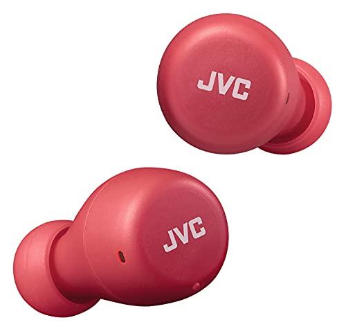 JVC Gumy Mini True Wireless Earbuds [Amazon Exclusive Edition] Auriculares Inalámbricos, Bluetooth 5.1, ResistenciaAgua (IPX4), Gran Duración de la Batería (hasta 15 Horas) - HA-Z55T-R (Rojo)