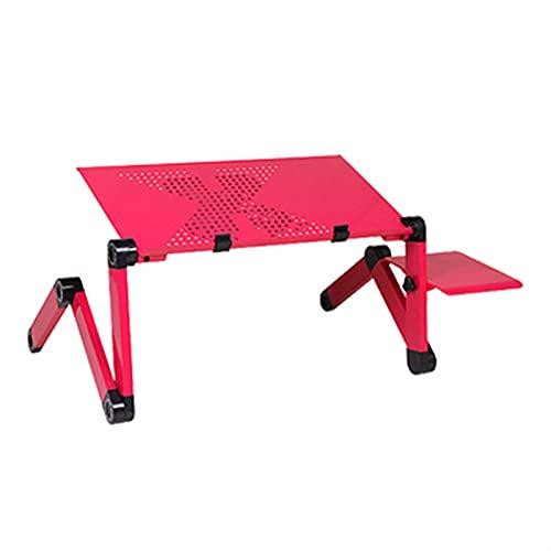 Alysays Soporte de Escritorio de portátil con diseño ergonómico Plegable, Adecuado para o Escritorio para portátil con Tablet PC con Almohadilla de ratón (Color : Pink)